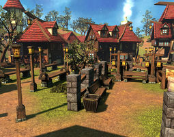 Cartoon Village 3D