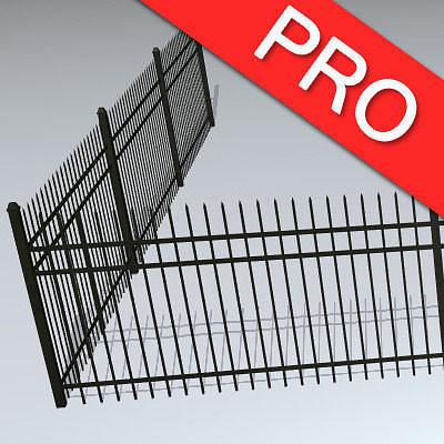 fences pack 3d model max obj mtl fbx tga 1