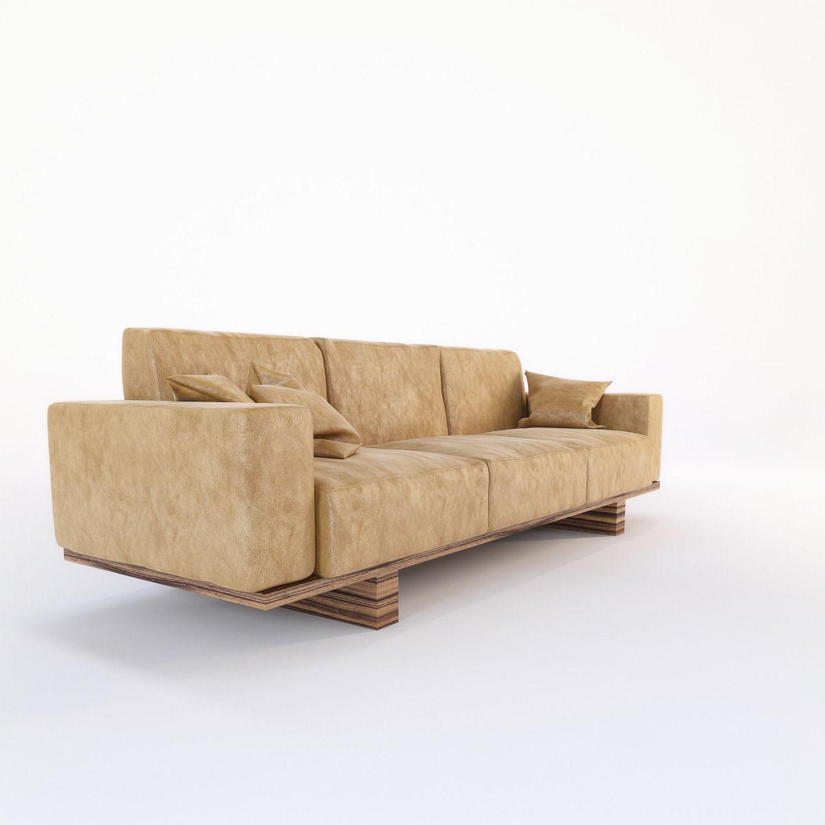 Riva 1920 Utah Sofa Model Max Obj Mtl Fbx 7