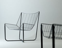 BLACK WIRE CHAIR 3D model