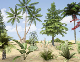 Plants Grass and Trees Pack 3D Model