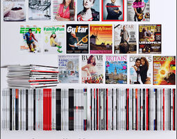 3d model magazines collection 80 piece