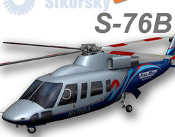 sikorsky s-76b aeromed 3d model low-poly rigged animated max