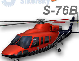 sikorsky s76b d-hhnh heliservice 3d model low-poly rigged animated max