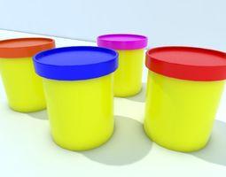 3D asset Plastic pots