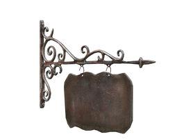 Signboard cast iron 3D model