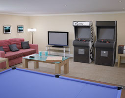 bachelor pad pack low-poly 3d asset