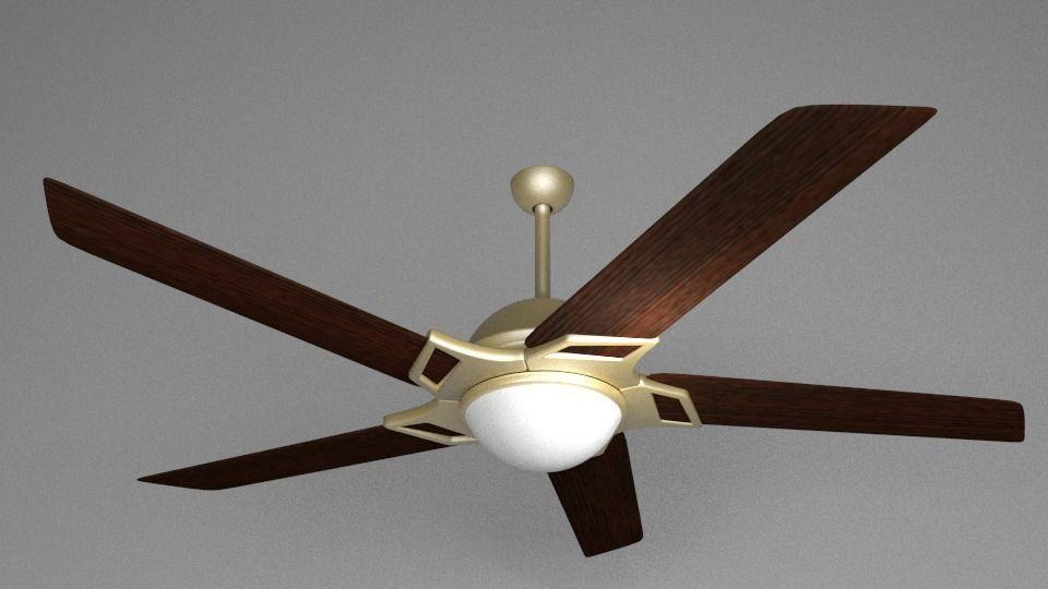 Wooden ceiling fan 3d cgtrader wooden ceiling fan 3d model obj 3ds fbx blend 2 aloadofball Image collections
