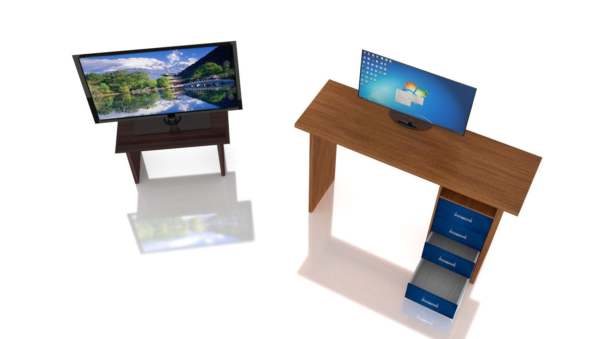3d model furniture and electronics collection vr ar for Model furniture