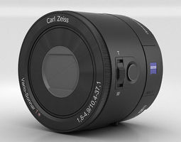 sony dsc qx100 lens module 3d model max obj 3ds fbx c4d lwo lw lws