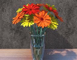 3D model Gerbera flowers