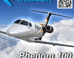 embraer phenom 100 jet 3d model low-poly rigged animated max fbx