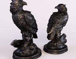 3d model eagle