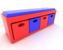 Stool seat 3D