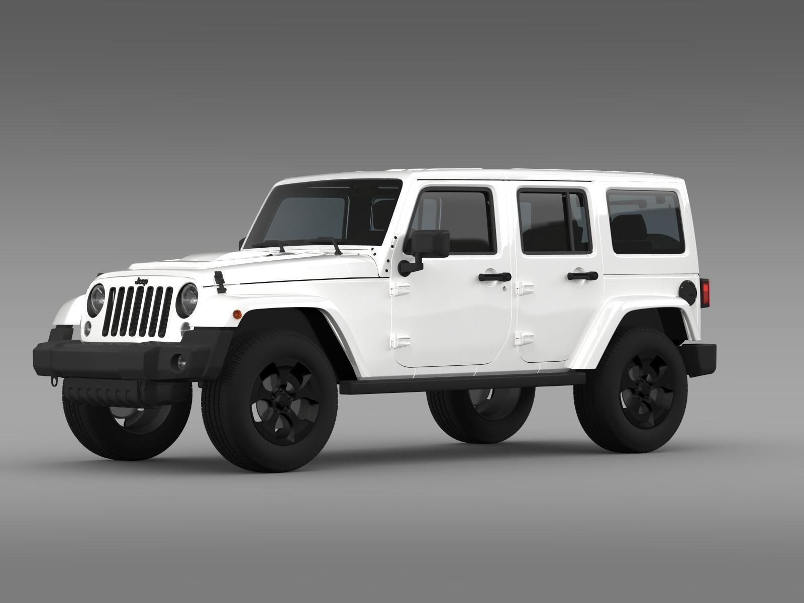 jeep wrangler 2015 white. jeep wrangler black edition 2 2015 3d model max obj 3ds fbx c4d lwo lw lws white m