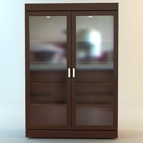 3d bookshelf cabinet vitrine cgtrader for Sideboard vitrine