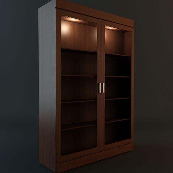 ... Bookshelf Cabinet Vitrine 3d Model Max Obj 3ds Mtl 2 ...