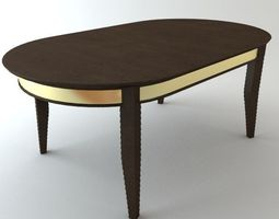 3d oval dining table