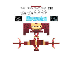 Iron Man Animated Paper Cut Out 3D asset