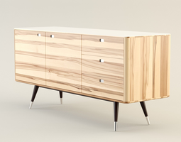 Danish Retro Sideboard 3D