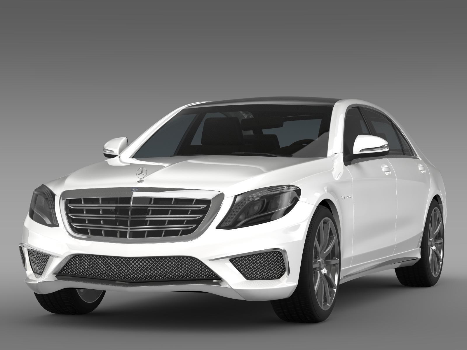 Mercedes benz s 65 amg w222 2014 3d model max obj 3ds fbx for Mercedes benz 2014 models