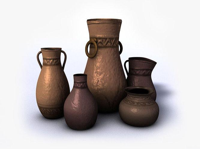 Ancient Vases Vol4 3d Model Cgtrader