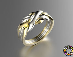 puzzle ring 3d print model