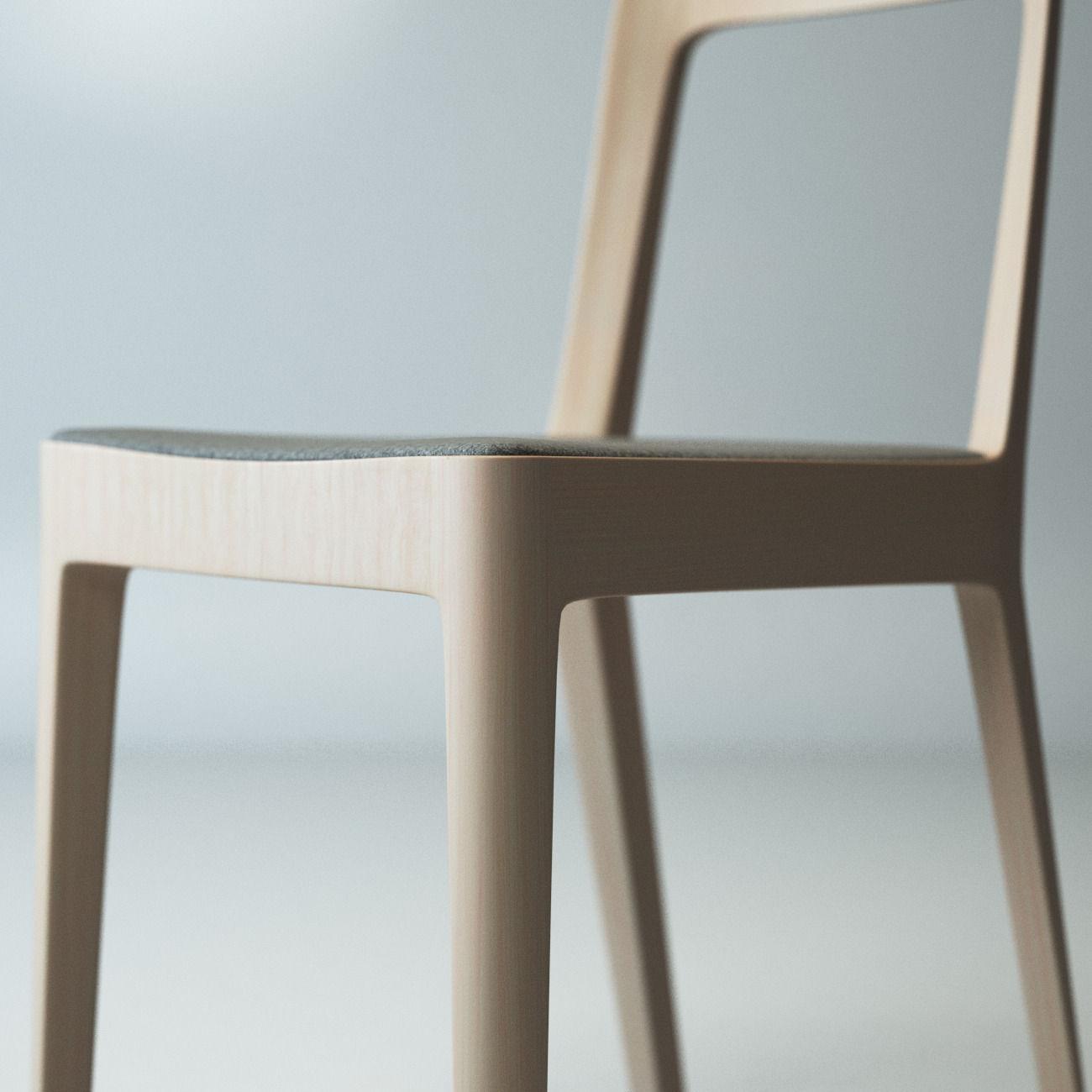 Hiroshima Simple Chair Buy 1 Get 1 Free 3d Model Max Obj