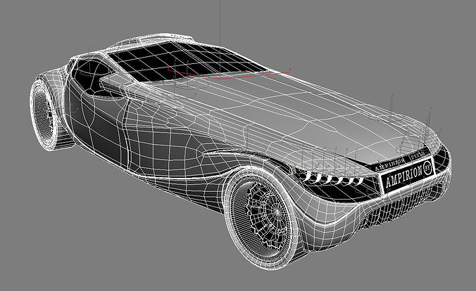 My car design 3d model max Simple 3d modeling online