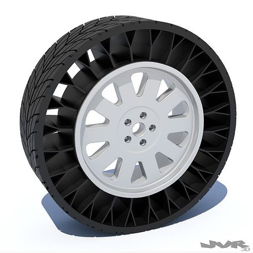 airless tire 3d model max obj mtl 3ds fbx pdf 1