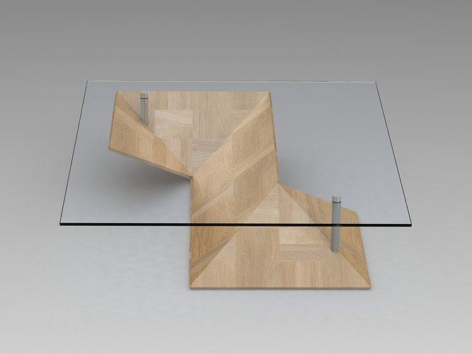 origami coffee table 3d model sldprt sldasm slddrw ige igs iges 1