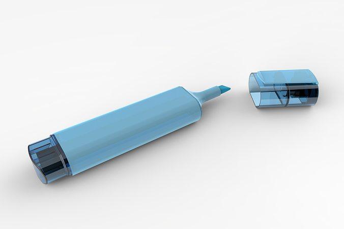 blue marker 2 3d model stl sldprt sldasm slddrw ige igs iges 1