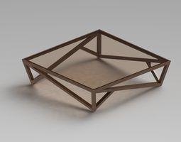 3D Modern Glass Coffee Table 2