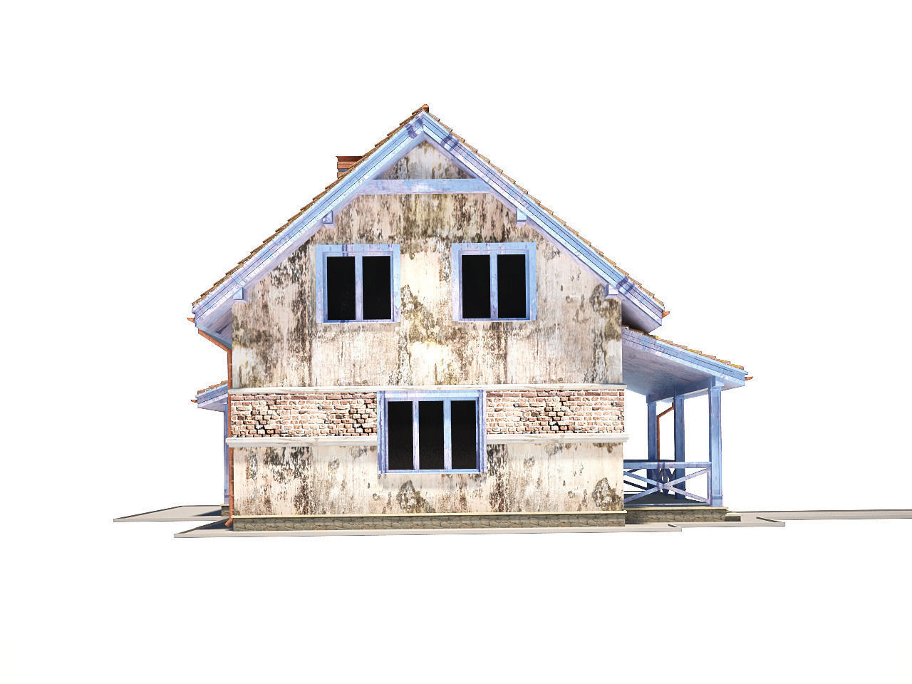 Abandoned house 3d model max for 3d model of house