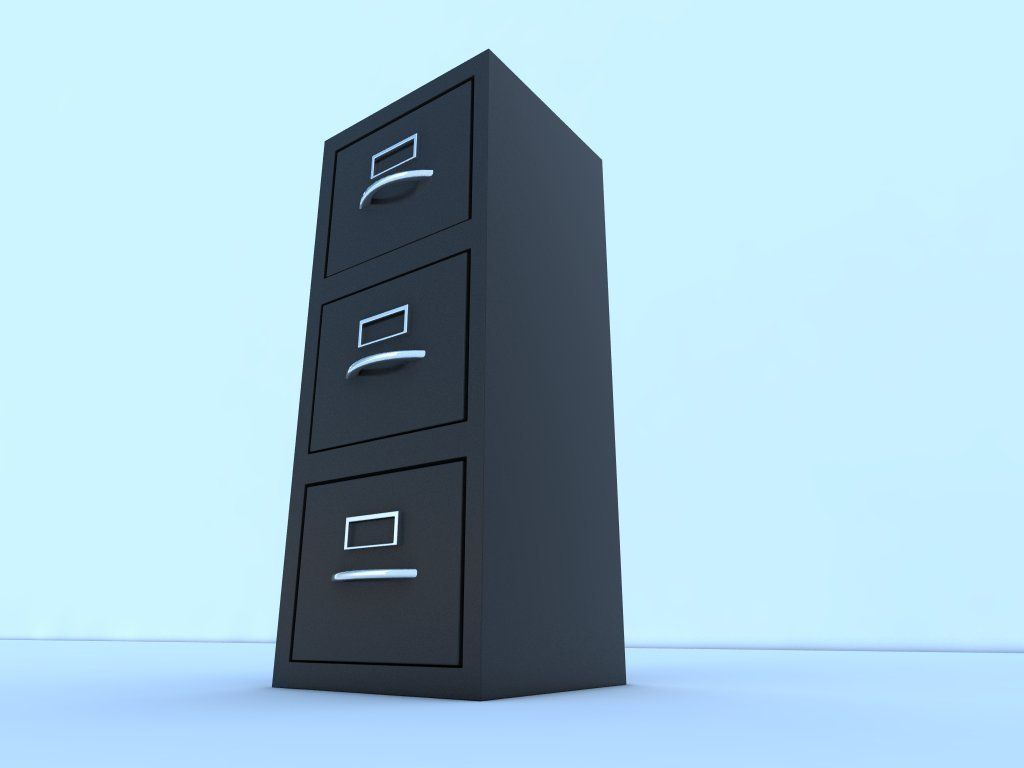 Filing cabinet 3D model game-ready | CGTrader