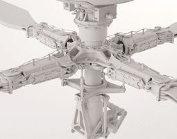 apache helicopter rotor 3d model max obj