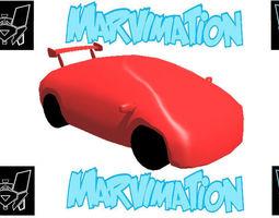 Car Futuristic Body Shell 3D asset