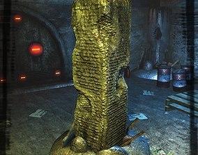 Destroyed Column 3D asset