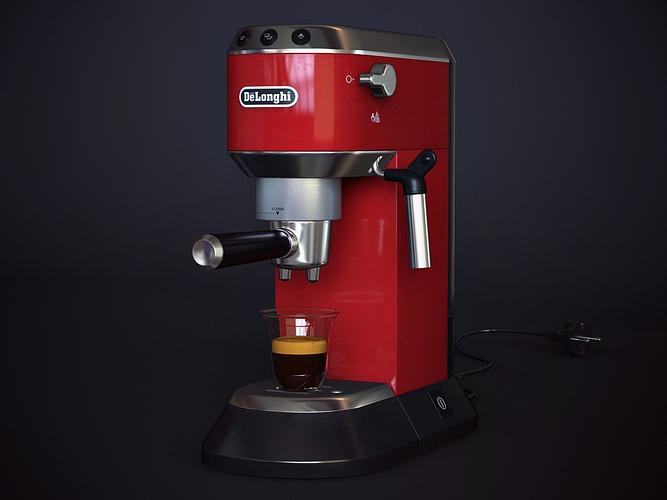 3d coffee machine delonghi ec 680 cgtrader. Black Bedroom Furniture Sets. Home Design Ideas