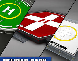 Helipad helicopter pad pack 3D Model