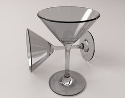 3D Martini Glass