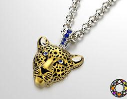 leopard pendant with enamel for vis 0076 v4 3D Model
