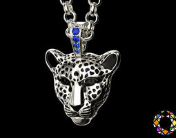 Light leopard pendant with enamel 0076 v2 3D Model