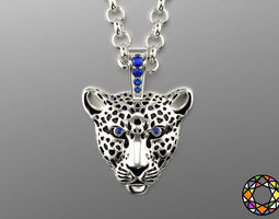 leopard pendant with enamel 0076 v3 3d printable model