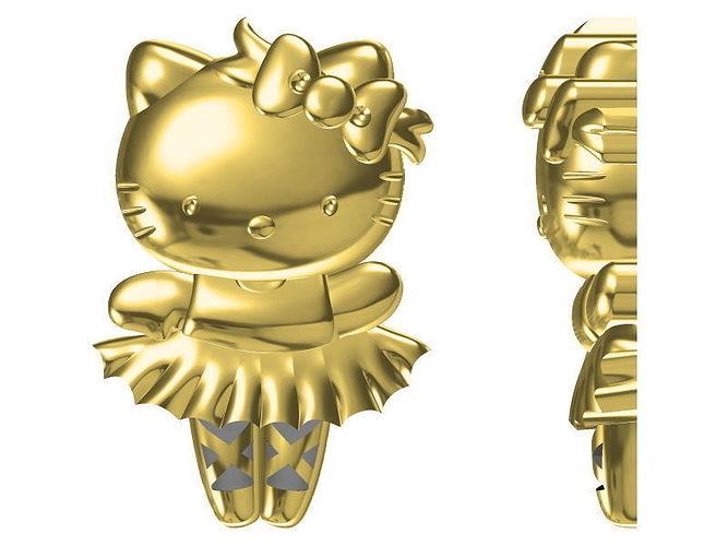 golden pendant 1651 3d model jcad jcd 1