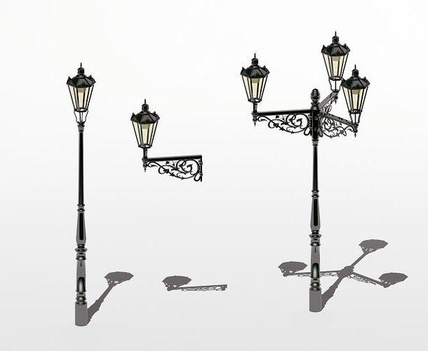 d models lamp oriental turbosquid street lamps