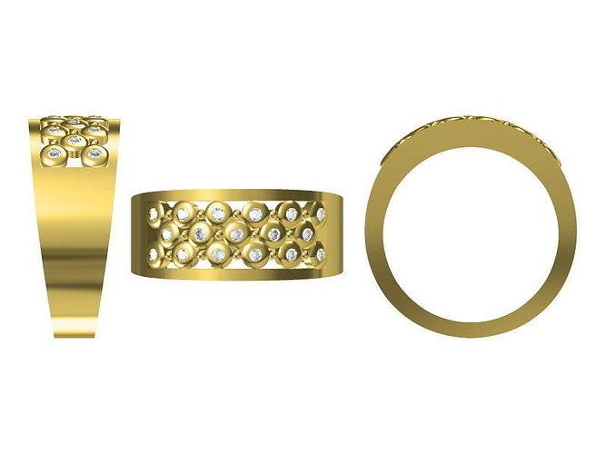 golden ring 1818 3d model jcad jcd 1