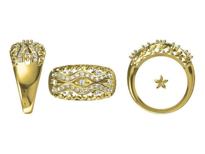 golden ring 1825 3d model jcad jcd 1