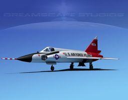 Convair F-102 Delta Dagger V05 USAF 3D Model