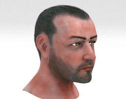 3D model Mid Aged Male Head